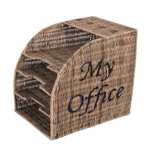 Aktenablage My Office 4 Fächer Aktenhalter Dokumentenablage Büroablage Bürohelfer Rattan