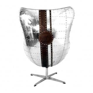 Design Schalensessel Saltum Cuba Brown Vintage Leder Aluminium - Vorschau 4