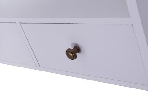 Wandregal Ryd Landhaus Stil 2 Schubladen Holz Vintage Look creme weiß - Vorschau 4