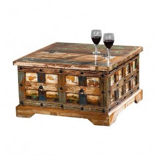 Couchtisch Truhe Delhi I Recyceltes Holz Shabby Chic Tisch Beistelltisch