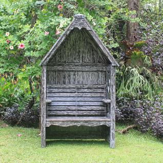 Laubenbank Philosophenbank Rosenbank Bali white wash verzinkt Mahagoni-Holz - Vorschau 2