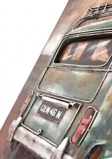 Handgefertigtes Metallbild Sunset ca. 120x80 cm Kunst Bild 3D-Optik Wandbild - Vorschau 2
