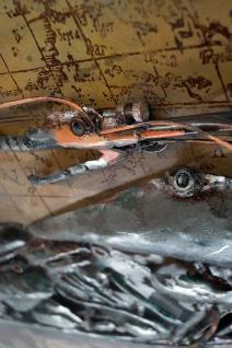 Handgefertigtes Metallbild Motorcycle 66 ca. 115x75 cm Kunst Bild 3D-Optik Wandbild - Vorschau 4