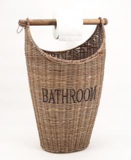 Toilettenpapier Eimer Aufbewahrungskorb Toilettenrollenhalter Rattan Naturrattan Handgefertigt