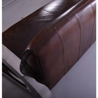 Design-Clubsofa Memphis 2-Sitzer Vintage Leder Chrom - Vorschau 2