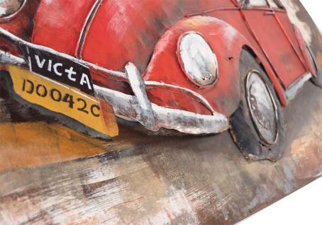 Handgefertigtes Metallbild Käfer ca. 120x80 cm Kunst Bild 3D-Optik Wandbild - Vorschau 4