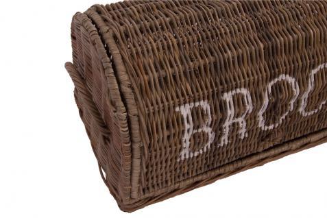 Brotbox Brood klein Rattankorb Brotkorb Aufbewahrung Naturrattan - Vorschau 4