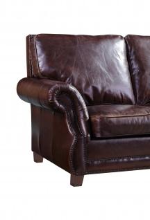 Ledergarnitur Wexford 3-Sitzer, 2-Sitzer und Sessel 3+2+1 - Vorschau 3