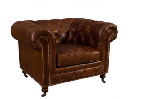 Clubsessel Chesterfield Vintage-Leder 1