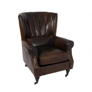 Lehnsessel Oaken Vintage Leder Ledersessel Sessel Lehnsessel Fernsehsessel Relaxsessel