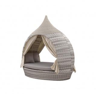 Liegeinsel Eye Catcher Lounge Harkers Island Wash Duo Weaving grau-weiß Beidseitig offen