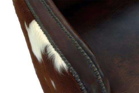Clubsofa Flair 2-Sitzer Vintage Leder Kuhfell - Vorschau 5