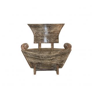 Teakholz Bootssessel White Wash 100 cm Gartensessel Gartenmöbel Sessel - Vorschau 1