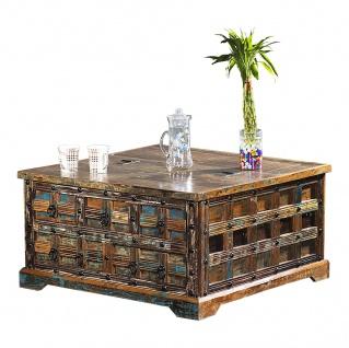 Couchtisch Truhe Delhi II Recyceltes Holz Shabby Chic Tisch Beistelltisch
