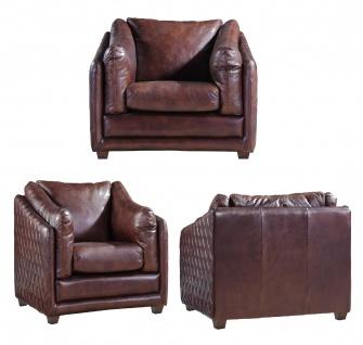 Ledergarnitur Oldham 3-Sitzer, 2-Sitzer und Sessel 3+2+1 - Vorschau 5