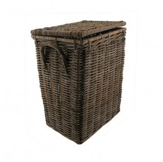 Wäschekorb mit Deckel Wäschetruhe aus Rattan, ca. 115 Liter