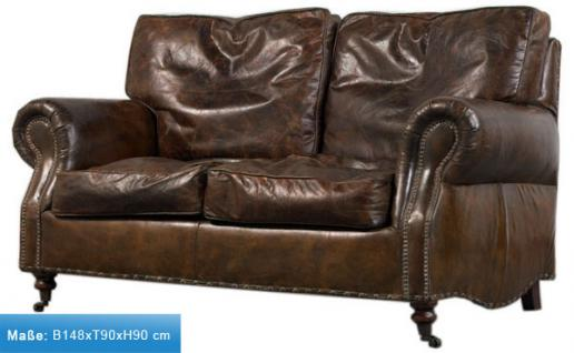Loungesofa Wales 2-Sitzer Vintage-Leder