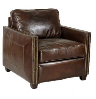 Loungesessel Rust Vintage-Leder