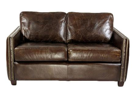 Loungesofa Rust 2-Sitzer Vintage-Leder