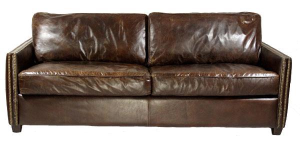 Loungesofa Rust 3-Sitzer Vintage-Leder
