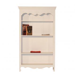 Bücherregal Kecapi weiß Landhausmöbel Bookcase