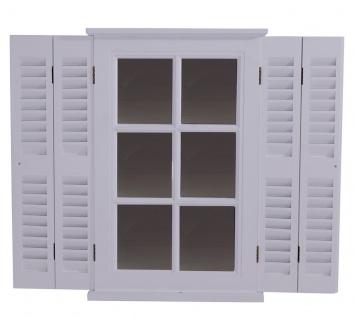 Spiegel Karlum weiß Landhaus Hängespiegel Wandspiegel Deko Flur Diele Fensterrahmen