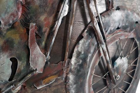Handgefertigtes Metallbild Bike Week Red ca. 100x100 cm Kunst Bild 3D-Optik Wandbild - Vorschau 2