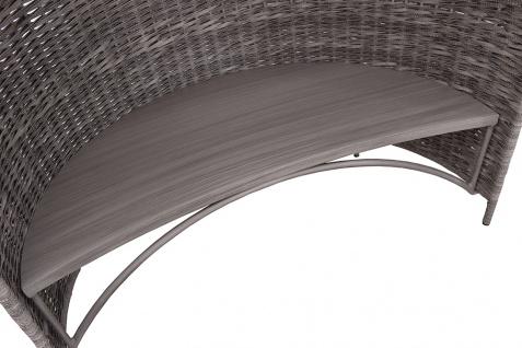 Strandmuschel Old Grey mit Sitzbank inkl. Sitzpolster in grau - Vorschau 3