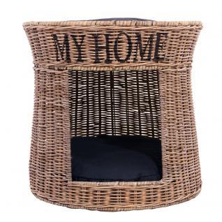 Katzenkorb My Home Katzenbett Rattankorb Korb Naturrattan handgefertigt - Vorschau 2