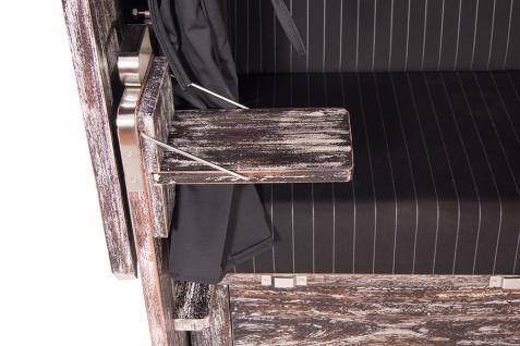 Almstrandkorb Mahagoni in White Wash schwarz 57849 Set 2 inkl. Rollen - Vorschau 4