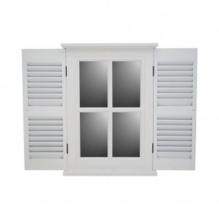 Spiegel Karlum small weiß Landhaus Hängespiegel Wandspiegel Deko Flur Diele Fensterrahmen