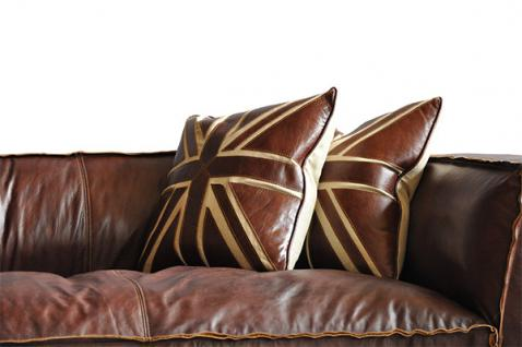 Clubsofa Darkford 3-Sitzer Leder Chrom 4