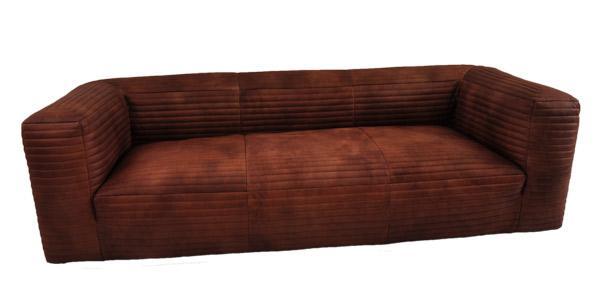 Ledersofa Romford 3-Sitzer Vintage-Leder