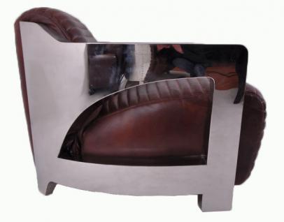 Design-Clubsessel Clifford Chrom und Vintage-Leder - Vorschau 4