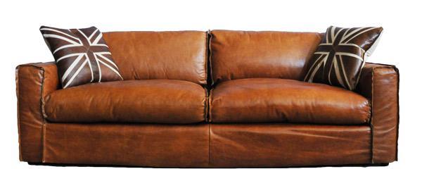Clubsofa Redhill 2, 5-Sitzer Vintage Leder Columbia Brown