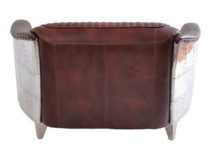 Clubsofa Aberford 2-Sitzer Vintage Leder Aluminium - Vorschau 2