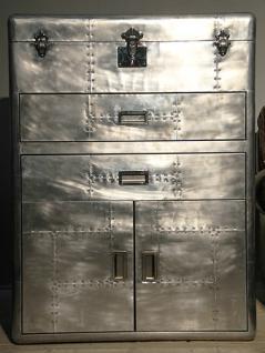 Schranktruhe Fleet Vintage Aluminium