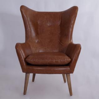 Ohrensessel Exeter Vintage Leder Montaigne Brown - Vorschau 2