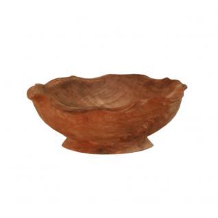 Deko-Schale aus Teakholz, mit Fuß
