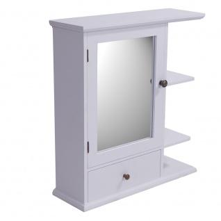Regal Bismo Spiegelschrank Spiegel Wandregal Küchenregal Gewürzregal Landhaus weiß