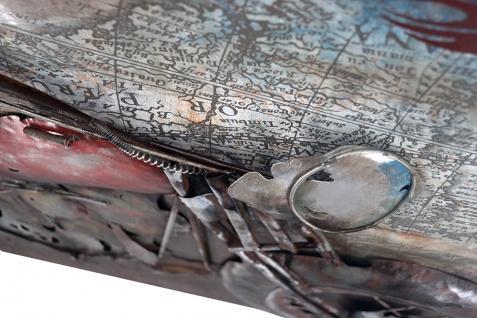 Handgefertigtes Metallbild Bike Week Red ca. 100x100 cm Kunst Bild 3D-Optik Wandbild - Vorschau 3