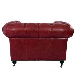 Clubsessel Chesterfield Vintage Leder Royal Rouge Sessel Designsessel Ledersessel - Vorschau 4