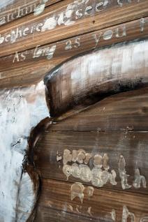 Handgefertigtes Holz-Metallbild Buffalo Skull ca. 115x75 cm Kunst Bild 3D-Optik Wandbild - Vorschau 4
