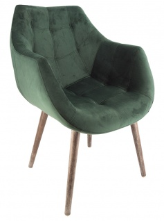 Design Schalensessel Chuck Green Samt grün Sessel