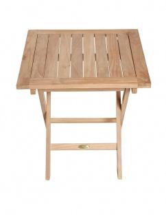 Teakholz Beistelltisch Riva eckig Teak Tisch Klapptisch Gartenmöbel Teakmöbel Gartentisch