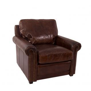 Loungesessel Oldwood Vintage Leder Ledersessel Sessel Lehnsessel Fernsehsessel Relaxsessel