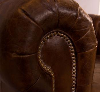 Clubsessel Chesterfield Vintage-Leder - Vorschau 5