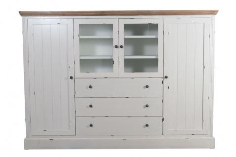 Sideboard Karup Holz Vintage Look weiß Kommode