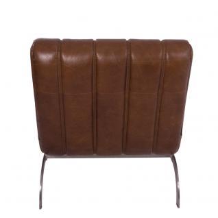 Design-Clubsessel Cassidy Columbia Brown Edelstahl Ledersessel Leder Sessel - Vorschau 4