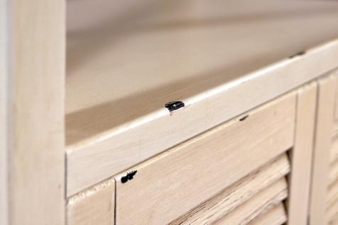 Standregal Loire mit Schrankfach Landhaus Stil Holz Vintage Look creme weiß - Vorschau 5
